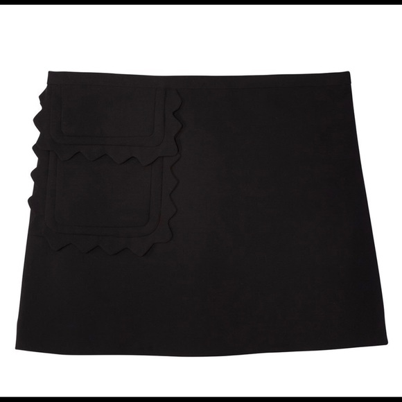 Skirts Victoria Beckham Target 2x Orange Mod Twill Skirt Plus Size Scallop Trim New